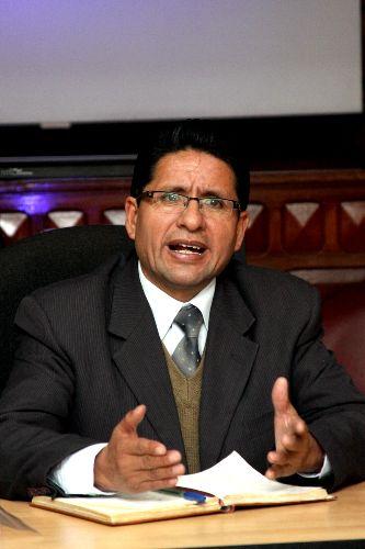 Presidente regional de Pasco, Kléver Meléndez Gamarra. Foto: Gobierno Regional de Pasco.